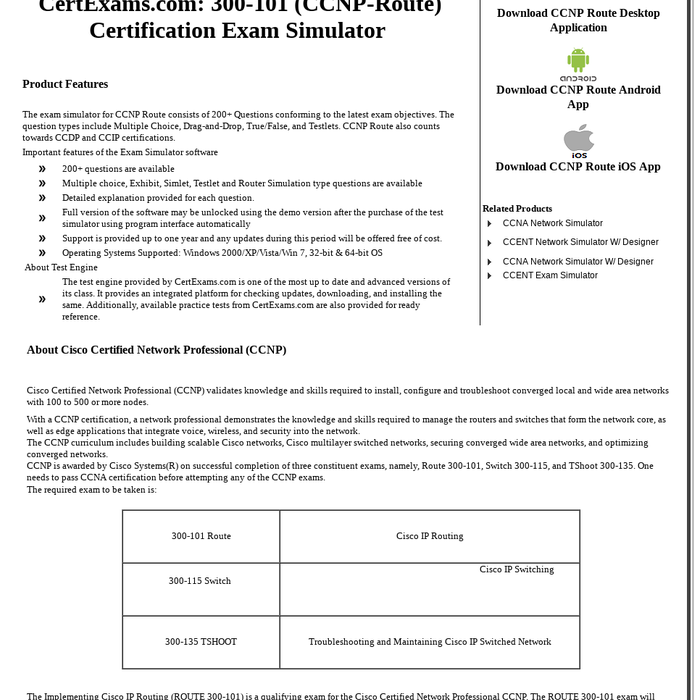 Mix Exam Simulator For Ccnp Route