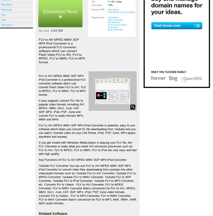 Mix · FLV to AVI MPEG WMV 3GP MP4 iPod Convert - Free Trial