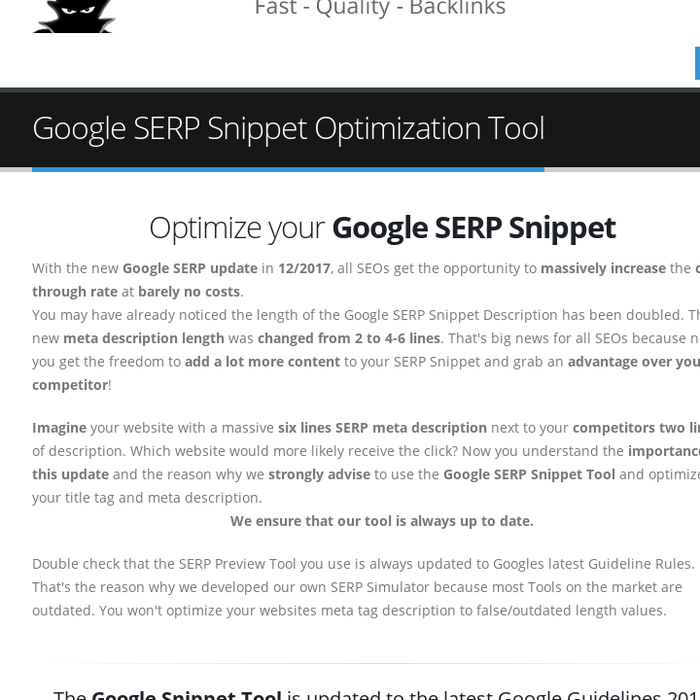google snippet preview tool