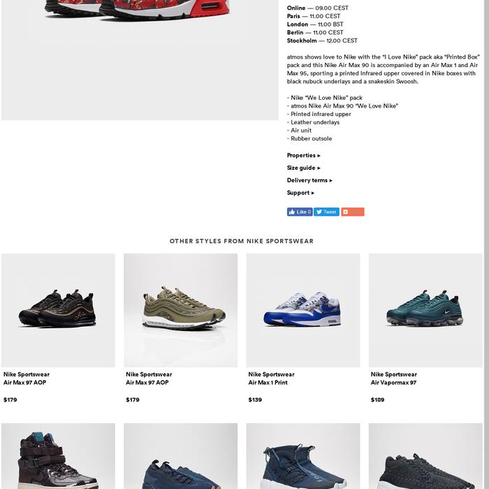 online store c6e27 e0c0d sneakersnstuff.comNike Air Max 90 Print - Aq0926-001 - Sneakersnstuff    sneakers   streetwear online since 1999 Release Date  26 May Online — 09.00  CEST ...