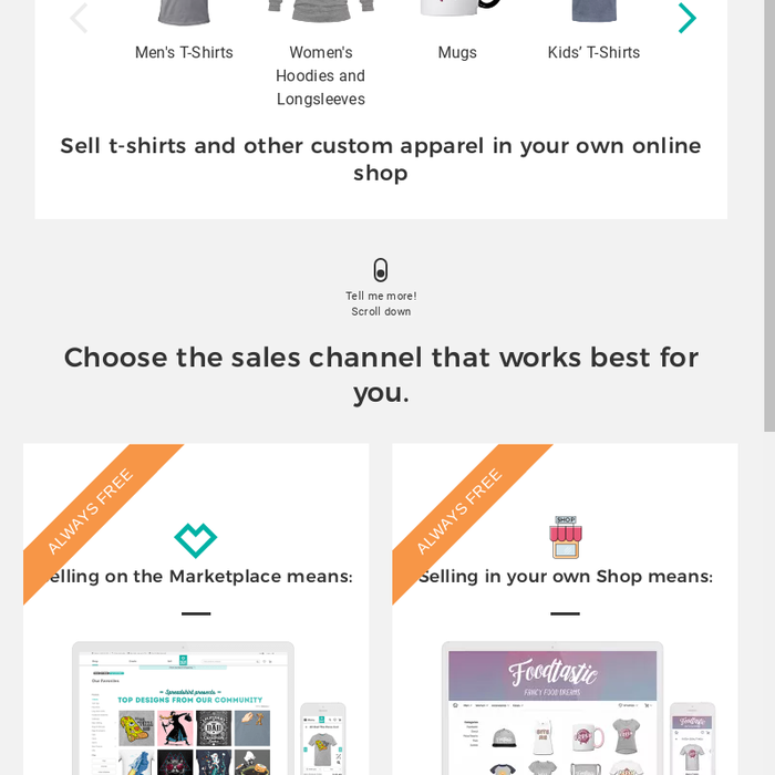 Mix Want To Sell T Shirts Online Open A Free Online Shop