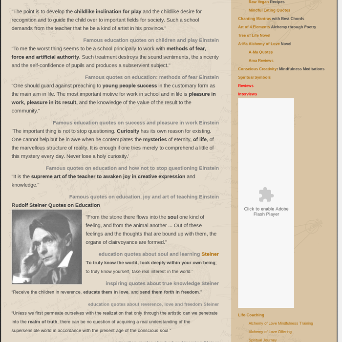 Mix Famous Education Quotes From Einstein And Steiner