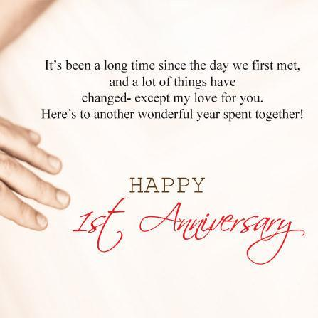 Mix One Year Anniversary Quotes First Anniversary Wishes For My Love