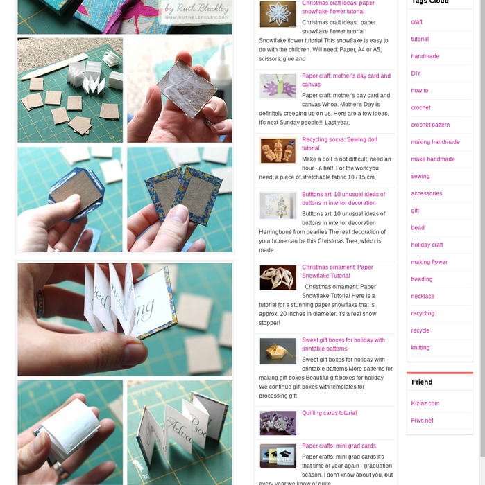 Mix Paper Crafts For Gifts Mini Book Photo Tutorial Crafts