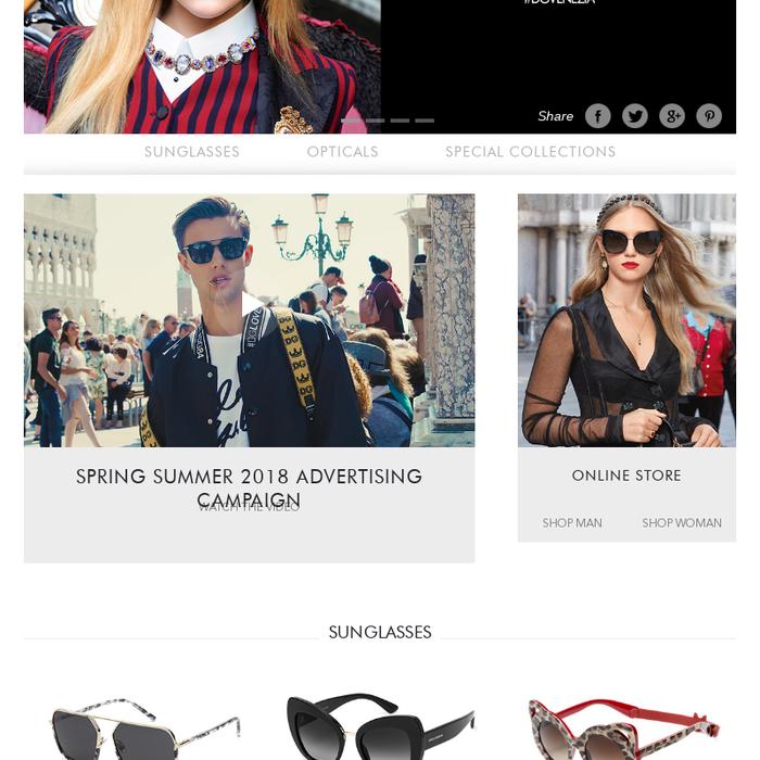 aded55da3b7 dolcegabbana.comDolce   Gabbana Sunglasses and Eyeglasses - Dolce   Gabbana  EyewearDolce   Gabbana Accessories presents the new Sunglasses and  Eyeglasses ...