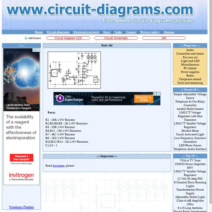 mix · park aidcircuit diagrams compark aidinfra red park assistance it has three level distance signal leds